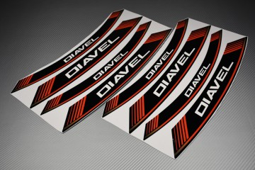 Inner Wheel Rims Stickers - DIAVEL Model