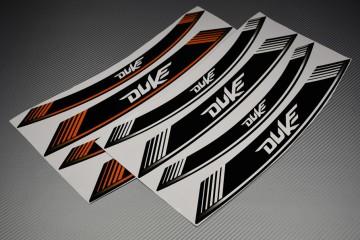 Motorrad Felgenrandaufkleber - ' DUKE ' Modell