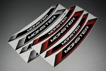 Motorrad Felgenrandaufkleber - ' MONSTER ' Modell