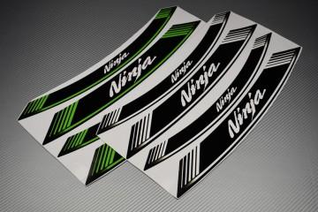 Motorrad Felgenrandaufkleber - ' NINJA ' Modell