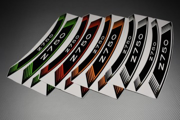 Inner Wheel Rims Stickers - ' Z750 ' Model
