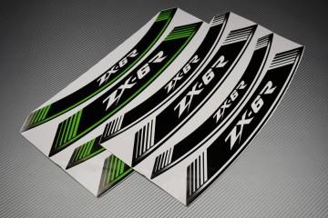 Liserets Intérieur de jantes - Modèle siglé ' ZX6R '