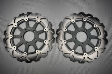 Paar wave Bremsscheiben 320mm Suzuki GSXR 600 750 97 03 GSX-R 1000 01 02 Hayabusa ..