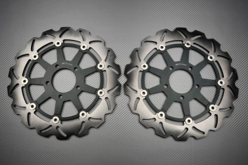 Pair of front Wave brake discs 320 mm Suzuki GSXR 600 750 97-03 GSX-R 1000 01-02 Hayabusa ..