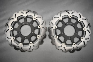 Par de discos de freno wave delantero 300mm para varios Kawasaki