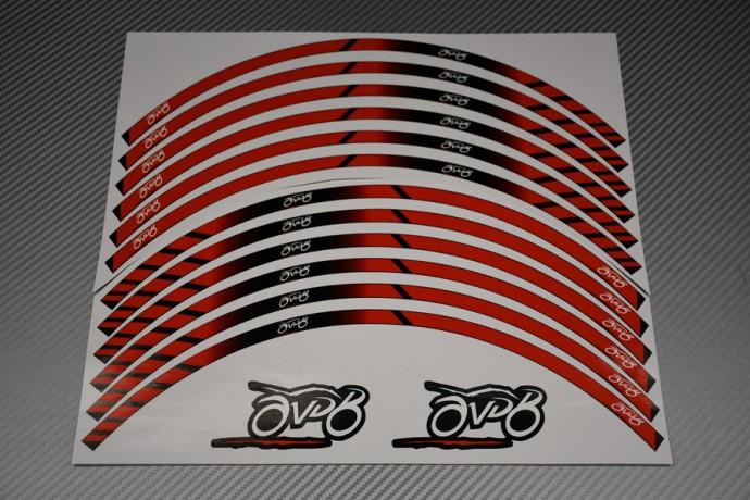 Liseret de jante universel Racing - Modèle AVDB MOTO