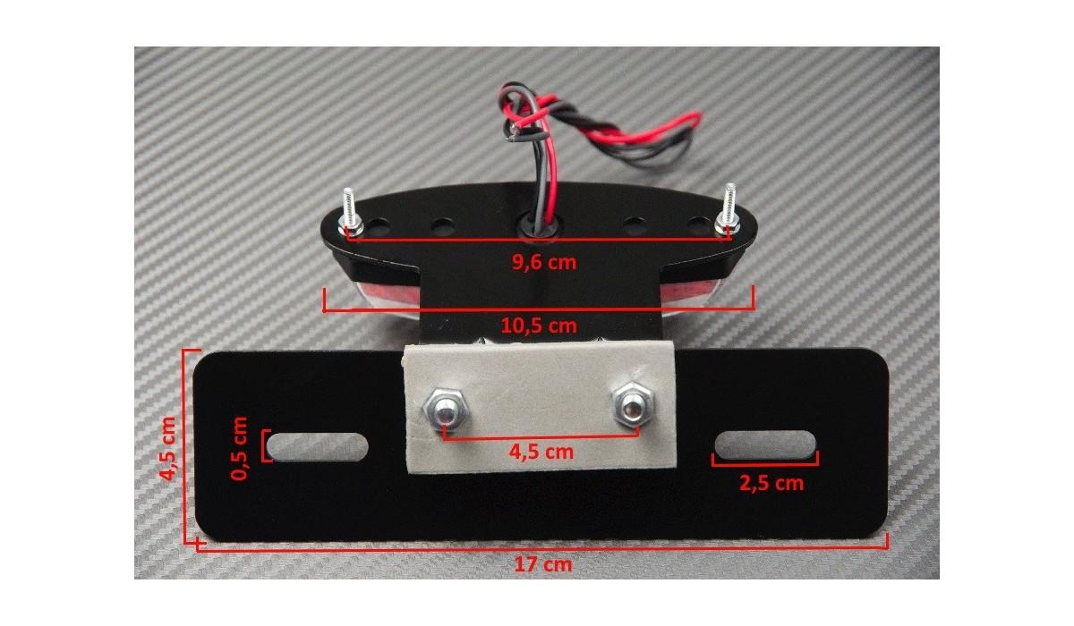 support de plaque feu stop clairage plaque adapter. Black Bedroom Furniture Sets. Home Design Ideas