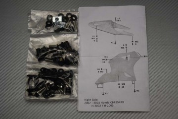 Kit Visserie Carénages Complets Honda CBR 900 / 954 RR 2002 - 2003