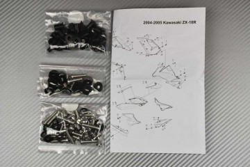 Kit Visserie Carénages Complets Kawasaki ZX10R 2004 - 2005