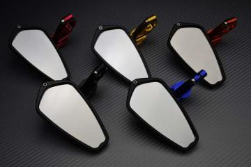 Par espejos retrovisores para el extremo del manillar