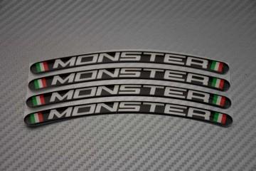 Motorrad Felgenrandaufkleber - Logo MONSTER