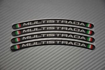Motorrad Felgenrandaufkleber - Logo MULTISTRADA