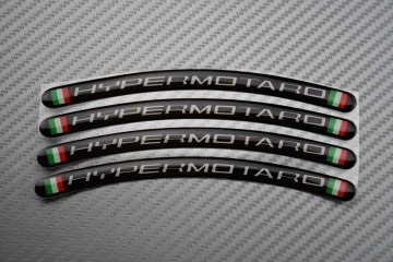 Rim Edge Stickers HYPERMOTARD Logo