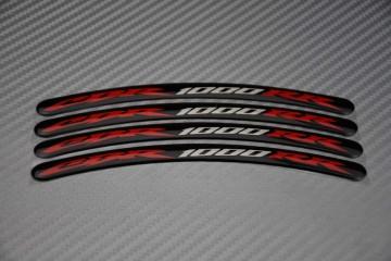 Motorrad Felgenrandaufkleber - Logo CBR 1000 RR