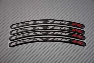 Motorrad Felgenrandaufkleber - Logo GSXR 750