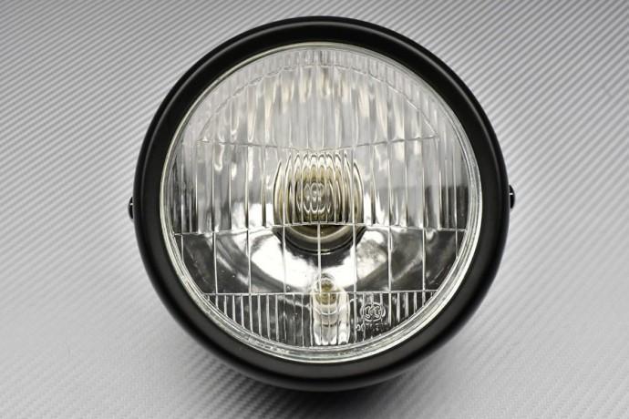 Adaptable Round Headlight with Bulbs