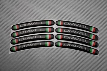 Motorrad Felgenrandaufkleber - Logo DIAVEL