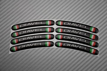 Rim Edge Stickers DIAVEL Logo