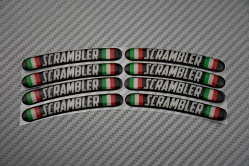 Rim Edge Stickers SCRAMBLER Logo