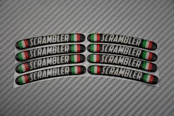 Stickers para borde de llantas - Logotipo SCRAMBLER