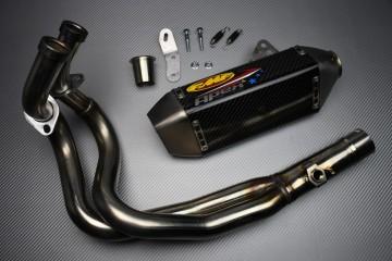 Full Exhaust System Kawasaki ER6 NINJA 650 N / F 2012 - 2016 FMF APEX SS / Carbon Fiber