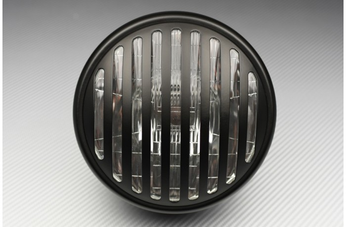 Adaptable Round Headlight with Bulbs and Grill Cover
