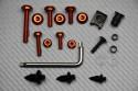 Juego de tornillería Torx universal en aluminio anodizado