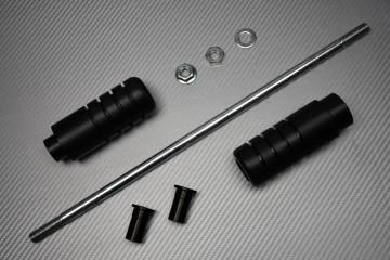 Pair of Teflon Protection Sliders for Suzuki SV SVS 650 / 1000 & VSTROM