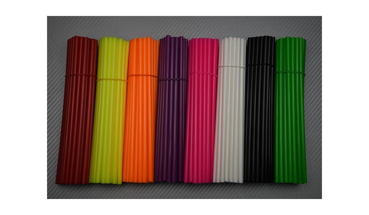 Facile /à Installer 72 pcs Violet Zchui Lot de 72//144 Couvre-Rayons color/és universels pour Moto