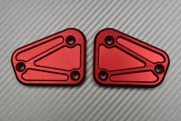 Paar eloxierte Brems- und Kupplugsflüssigkeitsbehälterdeckel  für DUCATI