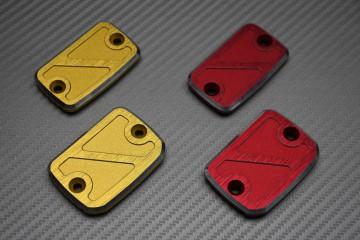 Paar eloxierte Flüssigkeitsbehälterdeckel für Bremsen und Kupplung für DUCATI