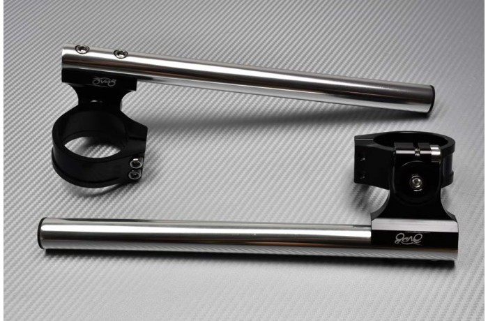 Pair of Reclining & raising AVDB Clip-On Handlebars 50 mm