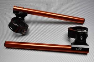 Pair of Reclining and raising AVDB Clip-On Handlebars 41 mm