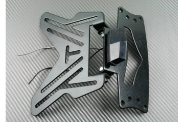 Blocco : Porta targa universale reclinabile + Luci di targa 3 led