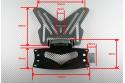 Pack : Portamatrícula universal reclinable + Luz de matrícula LED