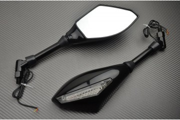 Pair of mirrors with integrated turn signals universal Roadsters