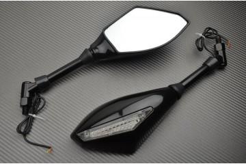 """Par de espejos con intermitentes integrados """"Universal"""" para Roadsters"""