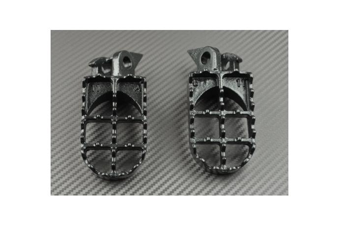Pair Of Motocross Footrests For Kawasaki Kx 125 250 500 Avdb