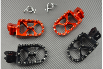 PAIR of ANODISED dirtbike footrests Many KTM
