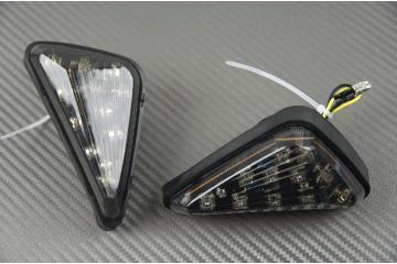 Pareja de intermitentes LED gota de agua Universales