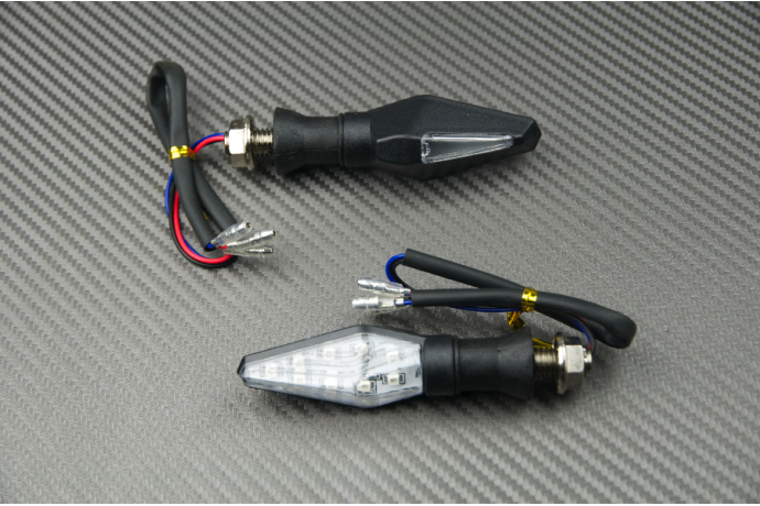 Pair of Universal LED Turn Signals with White Rear Light