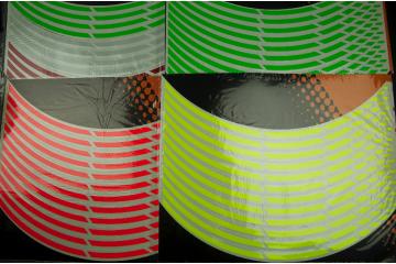 Rayas rueda borde adhesivo universal