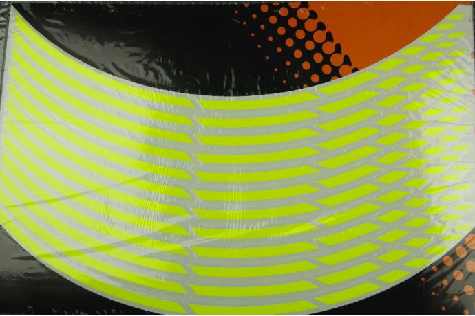 Universal adhesive rim wheel stripes