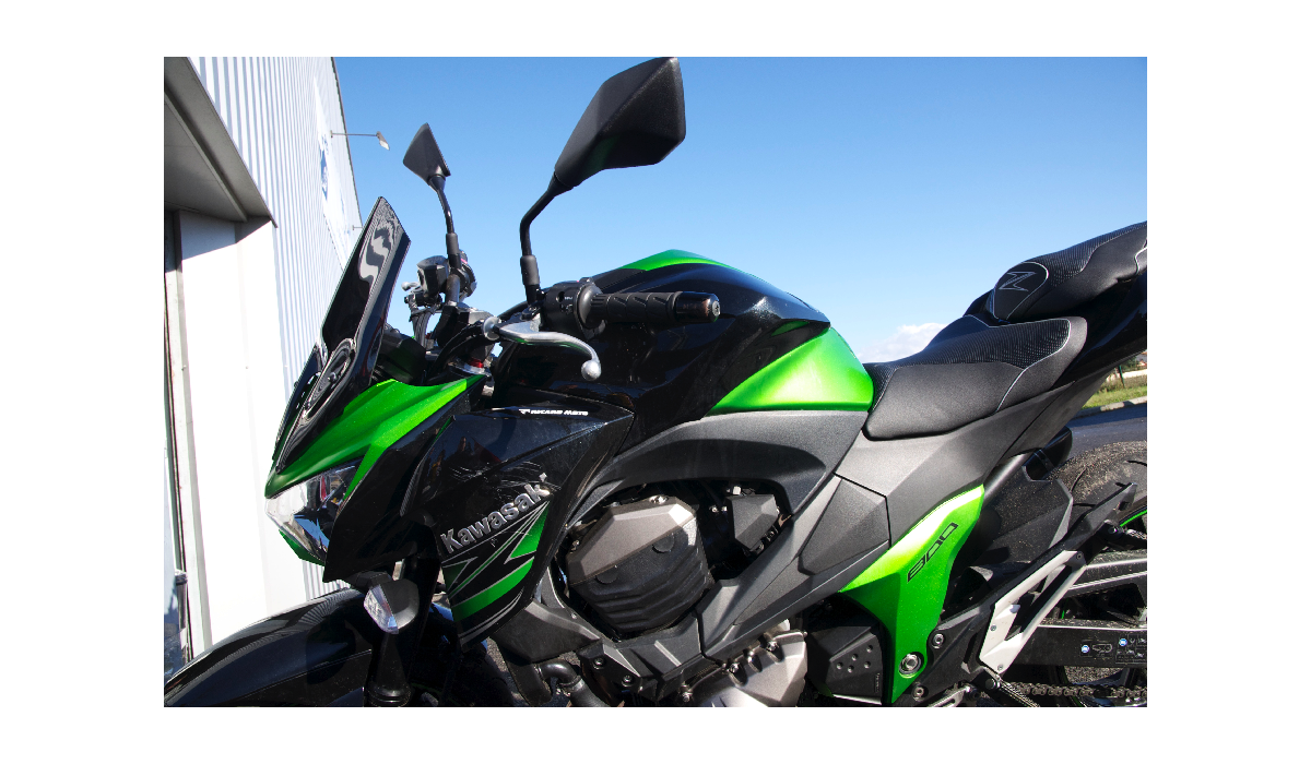 bulle pvc noire kawasaki z800 13 16 avdb moto l 39 accessoire prix motard. Black Bedroom Furniture Sets. Home Design Ideas