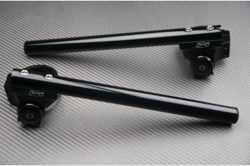 Paire de Demi-Guidons rehaussés inclinables 52mm