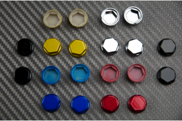 Hexagonal Bolt Covers 10mm 12mm 14mm - Various Colors Available